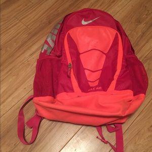 Nike air hot pink reflective backpack